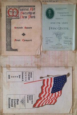 Teresa Vanderburgh's Musical Scrapbook #2 - Concert Programs and Convention Pamphlet