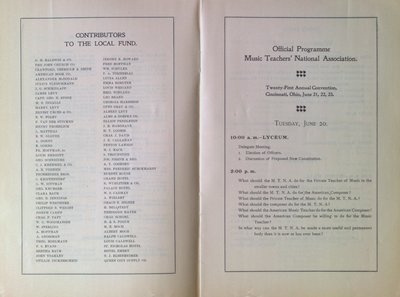 Teresa Vanderburgh's Musical Scrapbook #2 - Music Teachers' National Association Convention