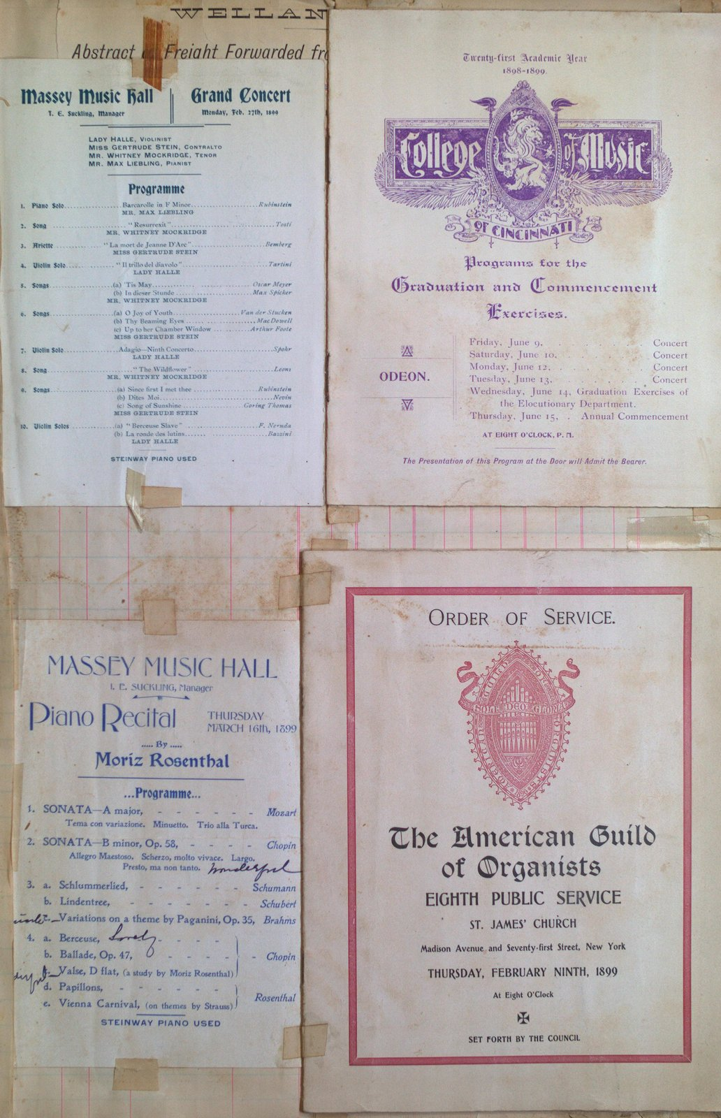 Teresa Vanderburgh's Musical Scrapbook #2 -  Four Programs for Two Concerts, One Public Service and a Commencement