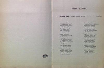 Teresa Vanderburgh's Musical Scrapbook #2 - The American Guild of Organists Order of Service