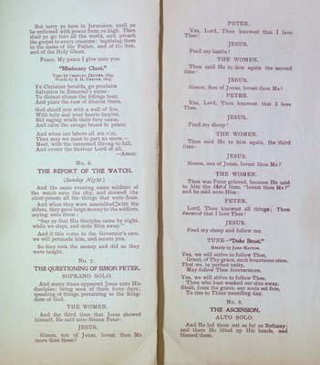 Teresa Vanderburgh's Musical Scrapbook #2 - Musical Service at St. Thomas' Church