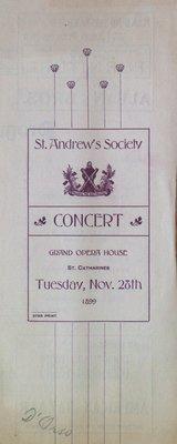 Teresa Vanderburgh's Musical Scrapbook #2 - St. Andrew's Society Concert
