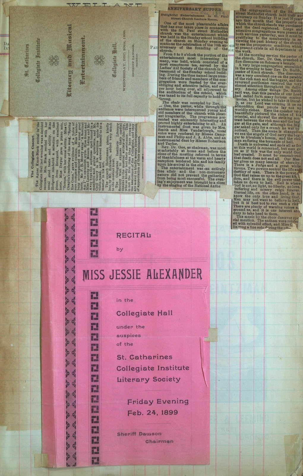 Teresa Vanderburgh's Musical Scrapbook #2 - Musical Programs and Newspaper Reviews
