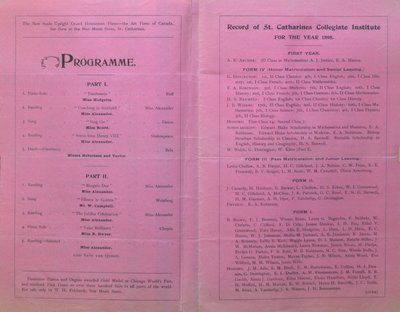 Teresa Vanderburgh's Musical Scrapbook #2 - Recital by Miss Jessie Alexander