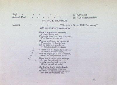 Teresa Vanderburgh's Musical Scrapbook #2 - Musical Service at St. Thomas' Church