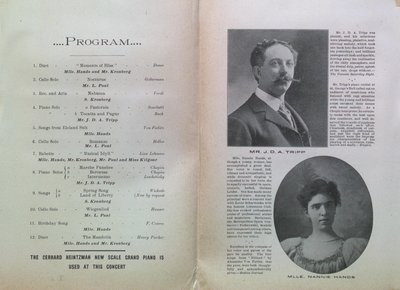 Teresa Vanderburgh's Musical Scrapbook #2 - S. Kronberg at the Grand Opera House