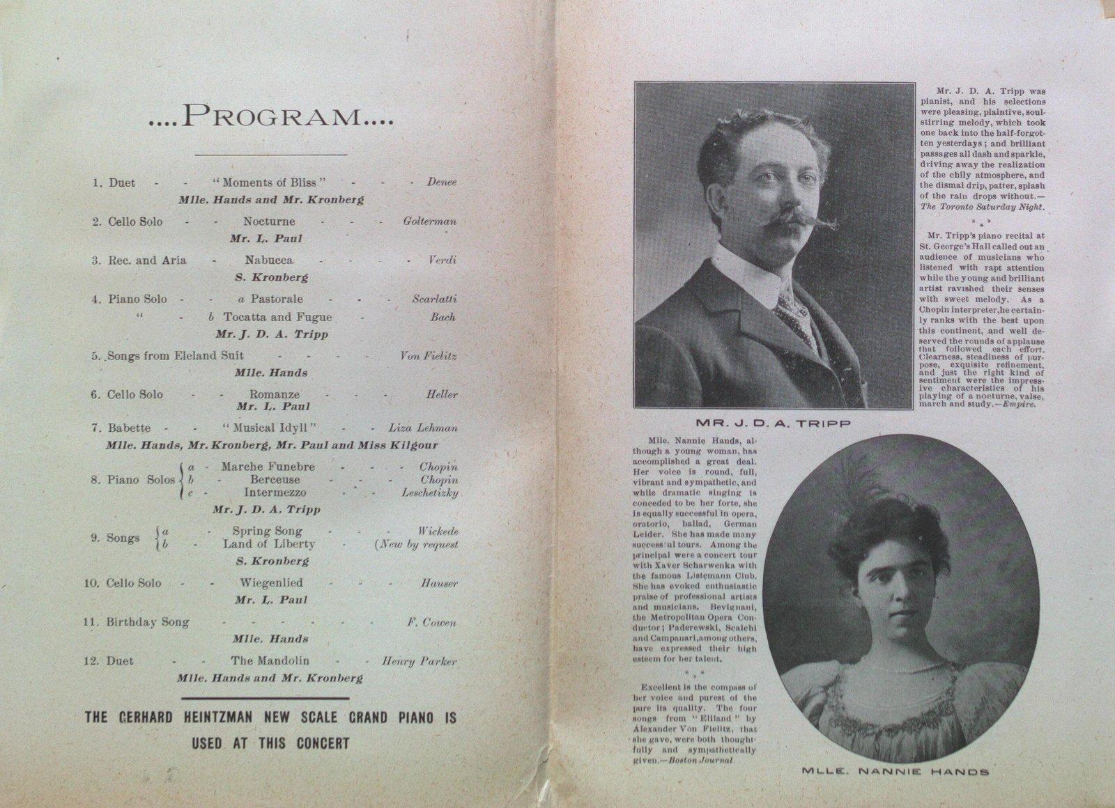 Teresa Vanderburgh's Musical Scrapbook #2 - S. Kronberg at the Grand Opera House