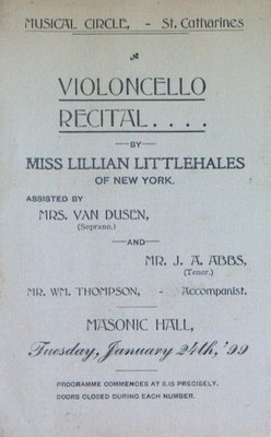 Teresa Vanderburgh's Musical Scrapbook #2 - Musical Circle Violoncello Recital