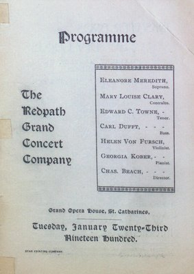 Teresa Vanderburgh's Musical Scrapbook #2 - The Redpath Grand Concert Company