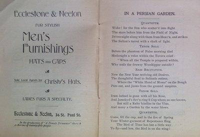 Teresa Vanderburgh's Musical Scrapbook #2 - The Redpath Grand Concert Company