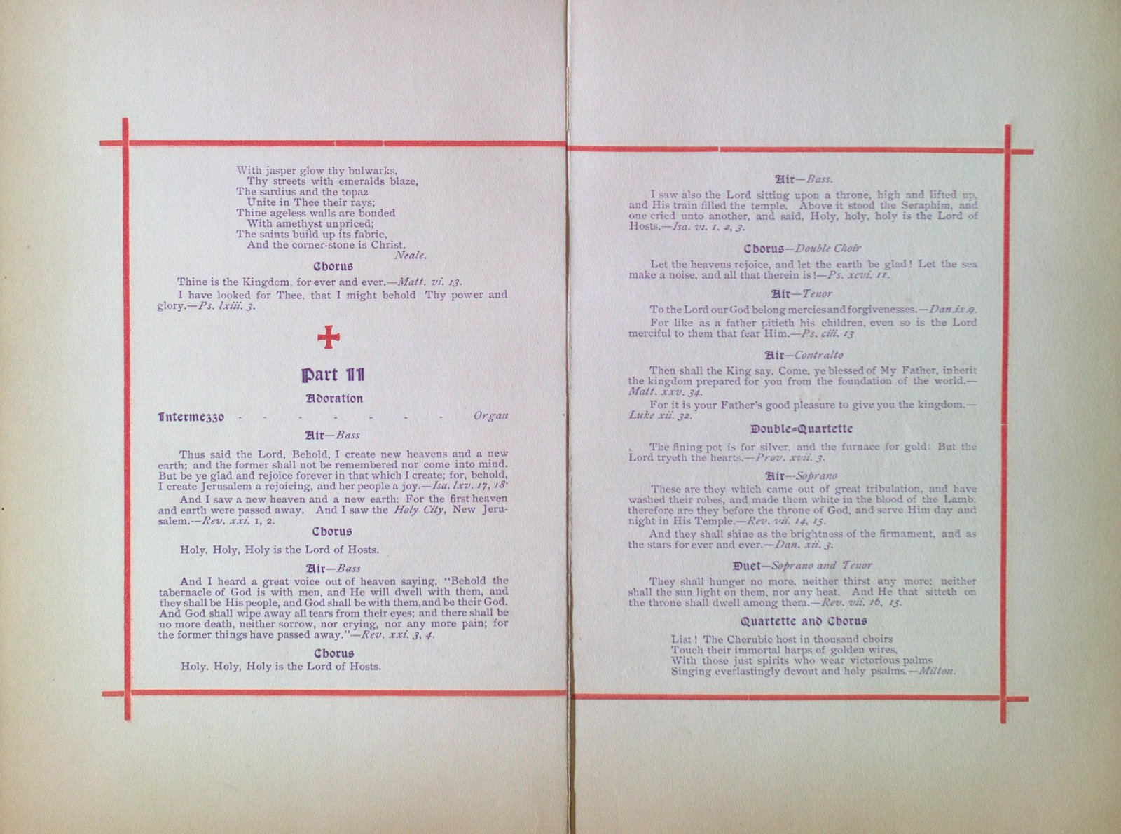 Teresa Vanderburgh's Musical Scrapbook #2 - St. Thomas' Church Musical Service