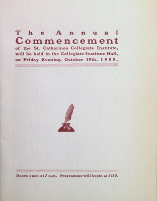 Teresa Vanderburgh's Musical Scrapbook #2 - Annual Commencement - St. Catharines Collegiate Institute