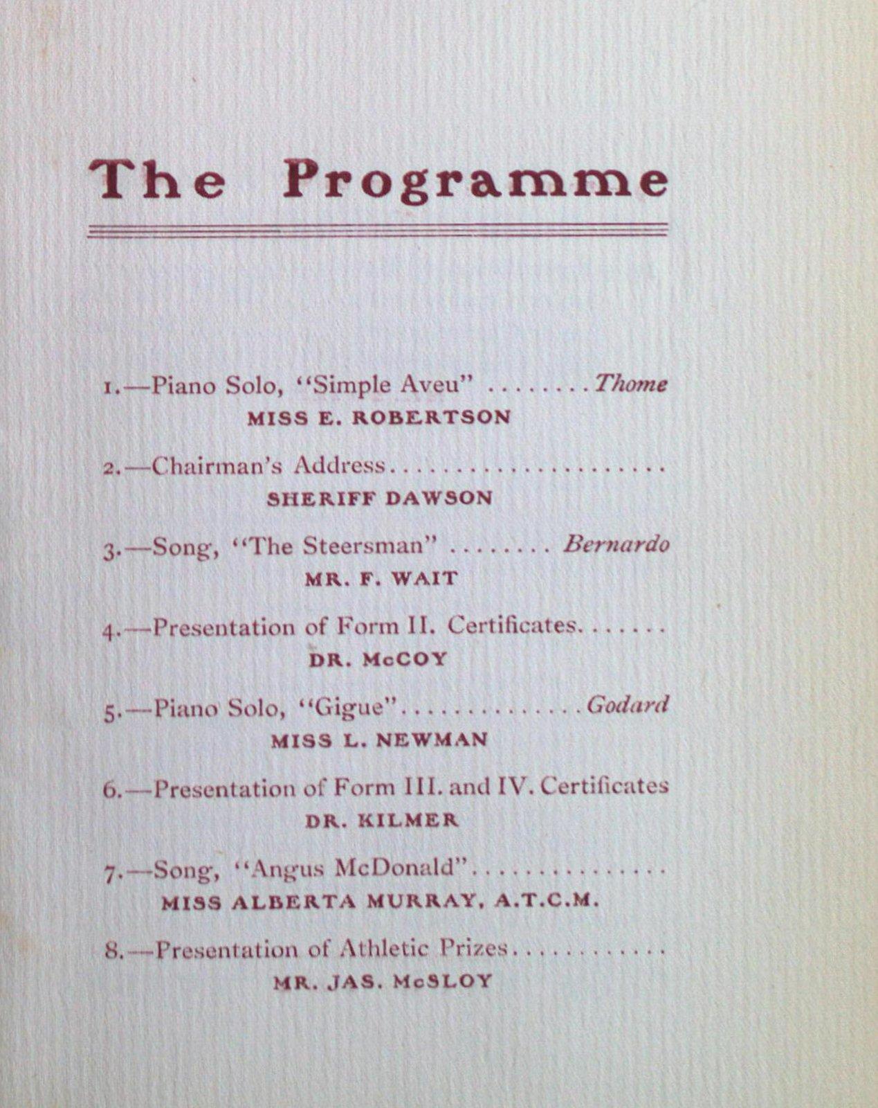 Teresa Vanderburgh's Musical Scrapbook #2 - Annual Commencement - St. Catharines Collegiate Institute