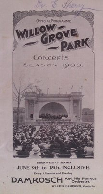 Teresa Vanderburgh's Musical Scrapbook #2 - Official Program for Willow Grove Park Concerts