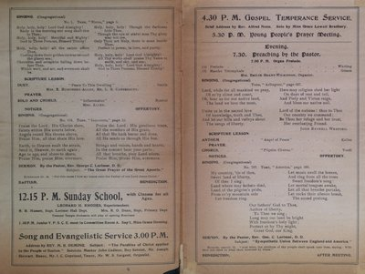 Teresa Vanderburgh's Musical Scrapbook #2 - Tremont Temple Baptist Church Church Service
