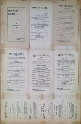Teresa Vanderburgh's Musical Scrapbook #2 - Musical Circle Programs - 1899-1900 Season