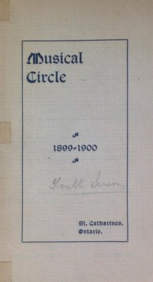 Teresa Vanderburgh's Musical Scrapbook #2 - Musical Circle 1899-1900 Season Schedule