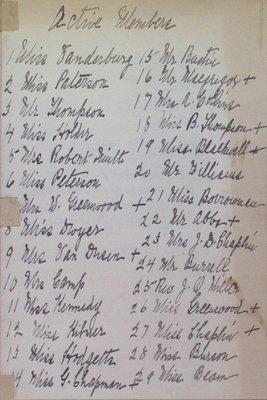 Teresa Vanderburgh's Musical Scrapbook #2 - Member List