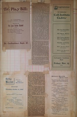 Teresa Vanderburgh's Musical Scrapbook #2 - Music Programs and Newspaper Clippings