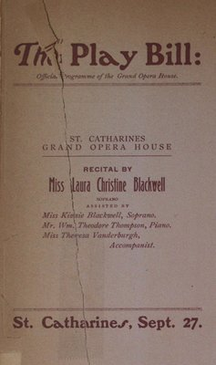Teresa Vanderburgh's Musical Scrapbook #2 - Recital by Miss Laura Christine Blackwell