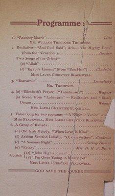 Teresa Vanderburgh's Musical Scrapbook #2 - Recital by Miss Laura Christine Blackwell