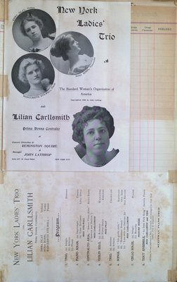 Teresa Vanderburgh's Musical Scrapbook #2 - New York Ladies Trio & Lilian Carllsmith