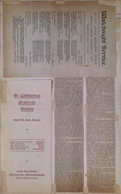 Teresa Vanderburgh's Musical Scrapbook #2 - Watchnight Service & Judas Maccabaeus Oratorio