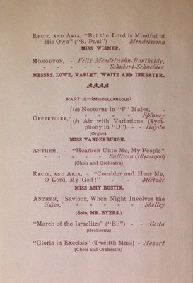 Teresa Vanderburgh's Musical Scrapbook #2 - Sacred Concert at Queen Street Baptist Church