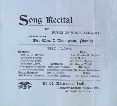 Teresa Vanderburgh's Musical Scrapbook #2 - Song Recital Program