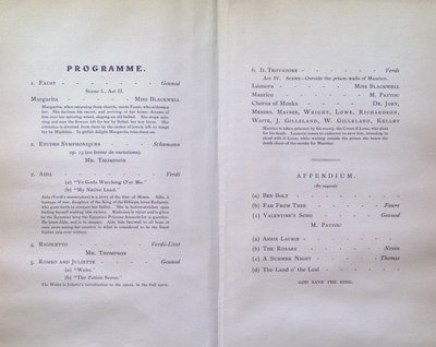 Teresa Vanderburgh's Musical Scrapbook #2 - Grand Opera Recital by Miss Laura Blackwell