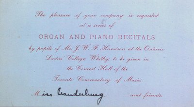 Teresa Vanderburgh's Musical Scrapbook #2 - Organ and Piano Recitals