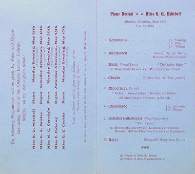 Teresa Vanderburgh's Musical Scrapbook #2 - Organ and Piano Recitals