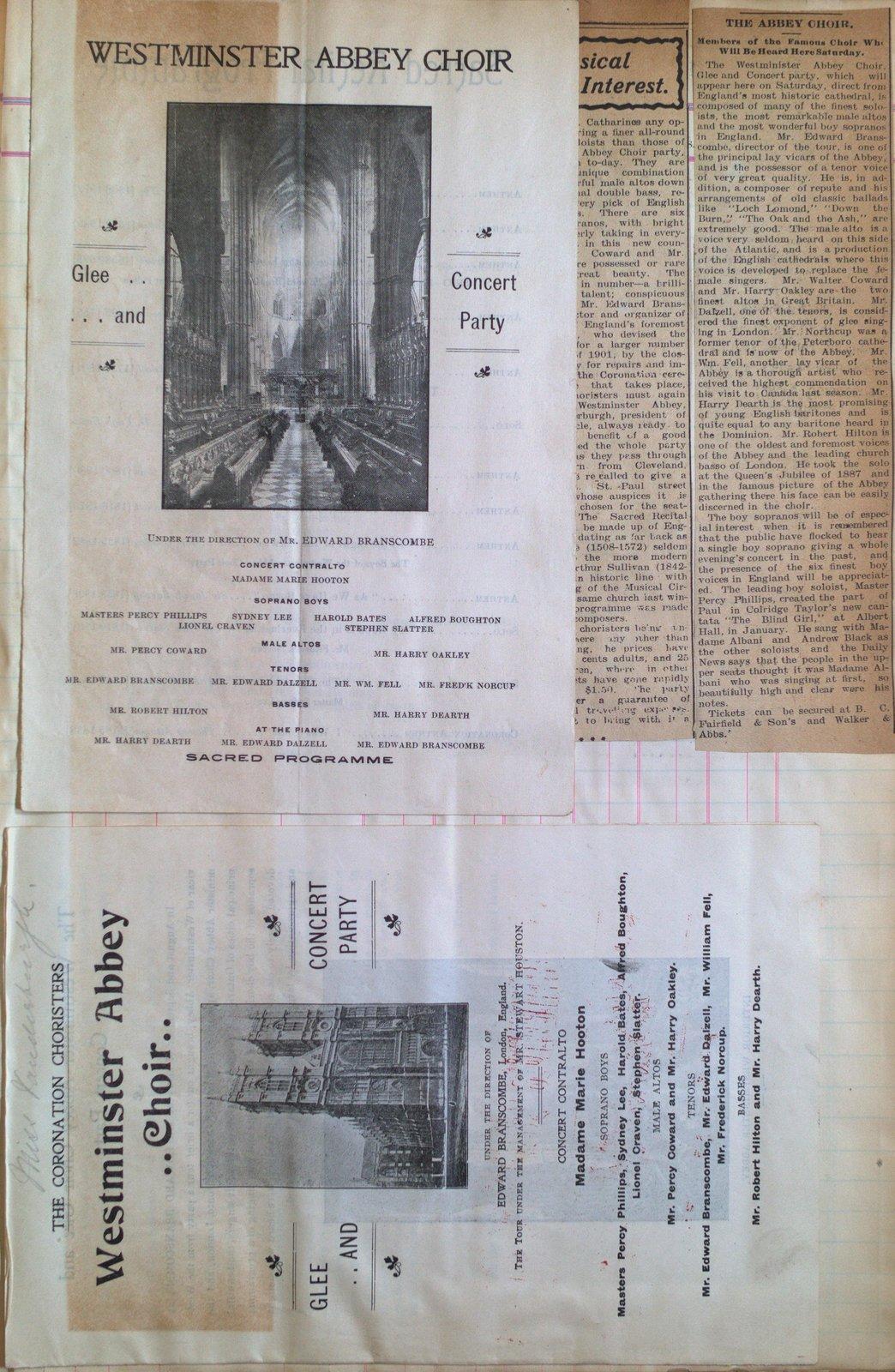 Teresa Vanderburgh's Musical Scrapbook #2 - Westminster Abbey Choir