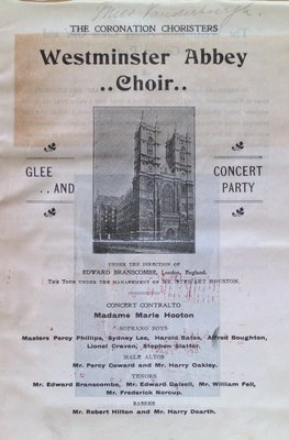 Teresa Vanderburgh's Musical Scrapbook #2 - Westminster Abbey Choir Pamphlet