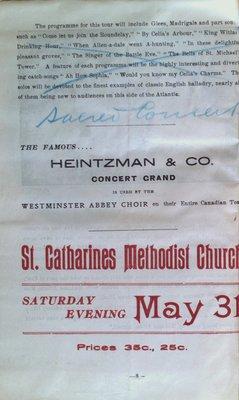 Teresa Vanderburgh's Musical Scrapbook #2 - Westminster Abbey Choir Pamphlet