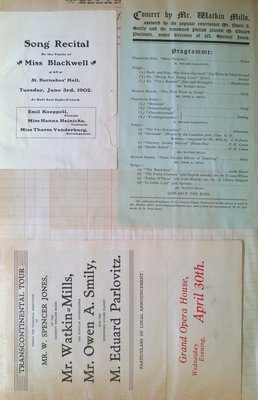 Teresa Vanderburgh's Musical Scrapbook #2 - Concert Programs