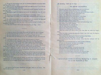 Teresa Vanderburgh's Musical Scrapbook #2 - Garrison Thanksgiving Service Program