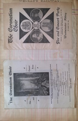 Teresa Vanderburgh's Musical Scrapbook #2 -  Coronation Choir Glee and Concert Party Programs
