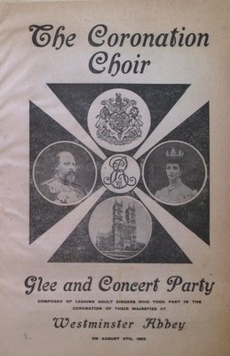 Teresa Vanderburgh's Musical Scrapbook #2 - Coronation Choir Glee and Concert Party Pamphlet