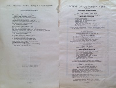 Teresa Vanderburgh's Musical Scrapbook #2 - Program for the Coronation Choir Glee and Concert Party