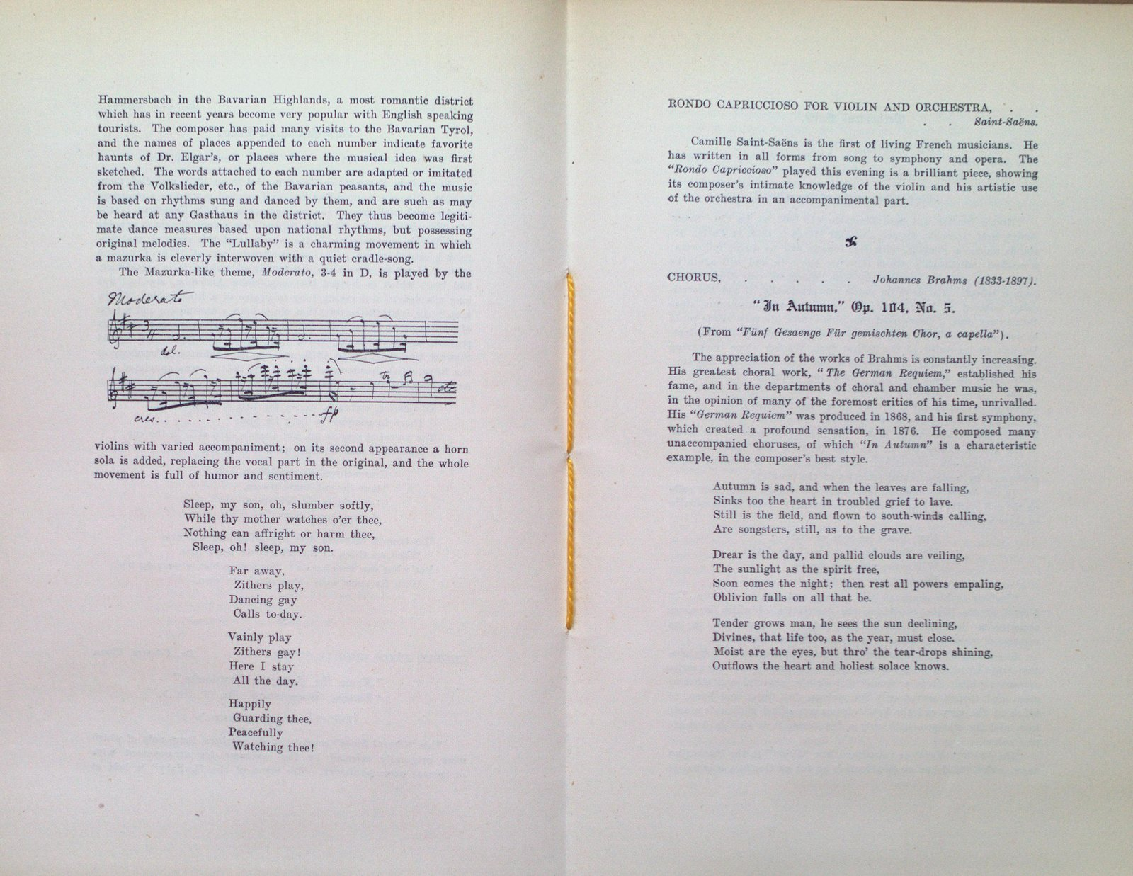 Teresa Vanderburgh's Musical Scrapbook #2 - The Mendelssohn Choir Concerts, 1903
