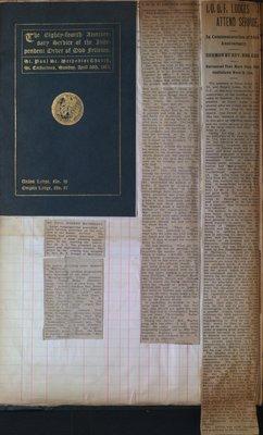 Teresa Vanderburgh's Musical Scrapbook #2 - Independent Order of Odd Fellows 84th Anniversary
