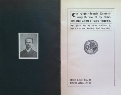 Teresa Vanderburgh's Musical Scrapbook #2 - Independent Order of Odd Fellows 84th Anniversary Program