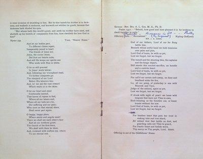 Teresa Vanderburgh's Musical Scrapbook #2 - Independent Order of Odd Fellows 84th Anniversary Program