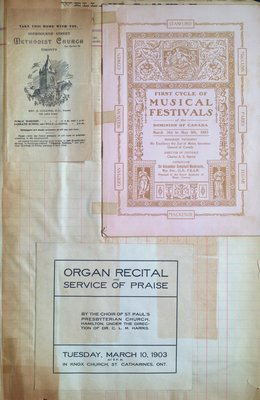 Teresa Vanderburgh's Musical Scrapbook #2 - Church Service Programs & The First Cycle of Musical Festivals Program