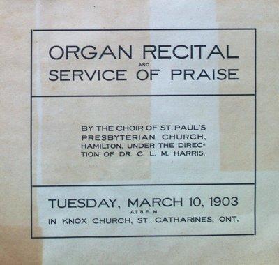 Teresa Vanderburgh's Musical Scrapbook #2 - Organ Recital and Service of Praise Program