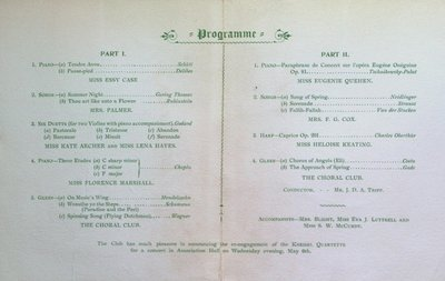Teresa Vanderburgh's Musical Scrapbook #2 - Program for a Recital at the Toronto Conservatory of Music