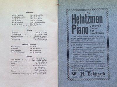 """Teresa Vanderburgh's Musical Scrapbook #2 - Program for the Cantata """"David's Lament"""""""