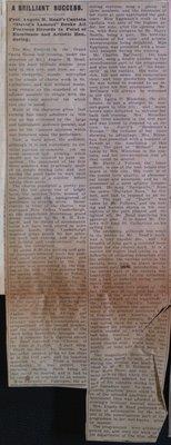 """Teresa Vanderburgh's Musical Scrapbook #2 - Newspaper Review of the Cantata """"David's Lament"""""""