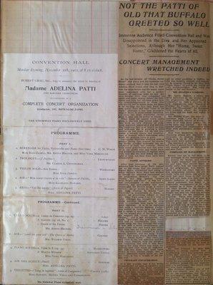 Teresa Vanderburgh's Musical Scrapbook #2 - Adelina Patti's Farewell Program and Newspaper Review